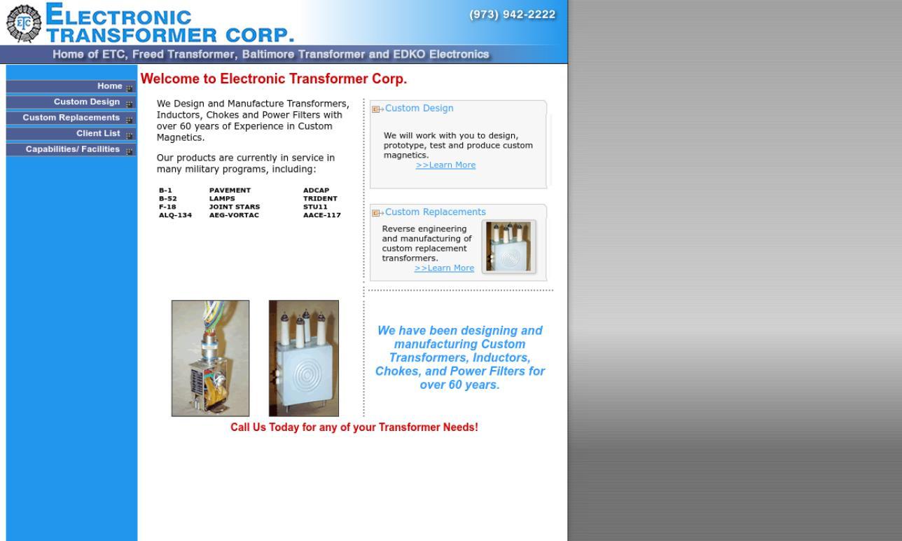 Electronic Transformer Corp.