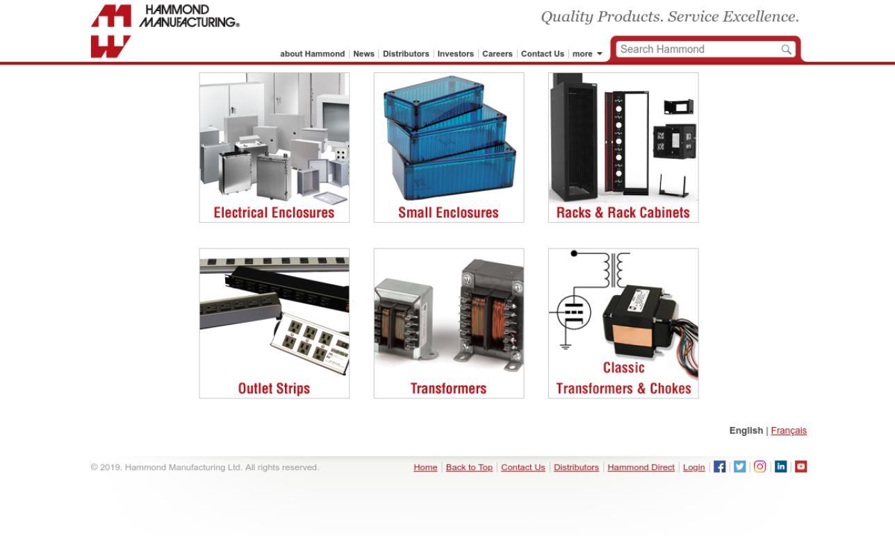 Hammond Manufacturing™ Co. Inc.