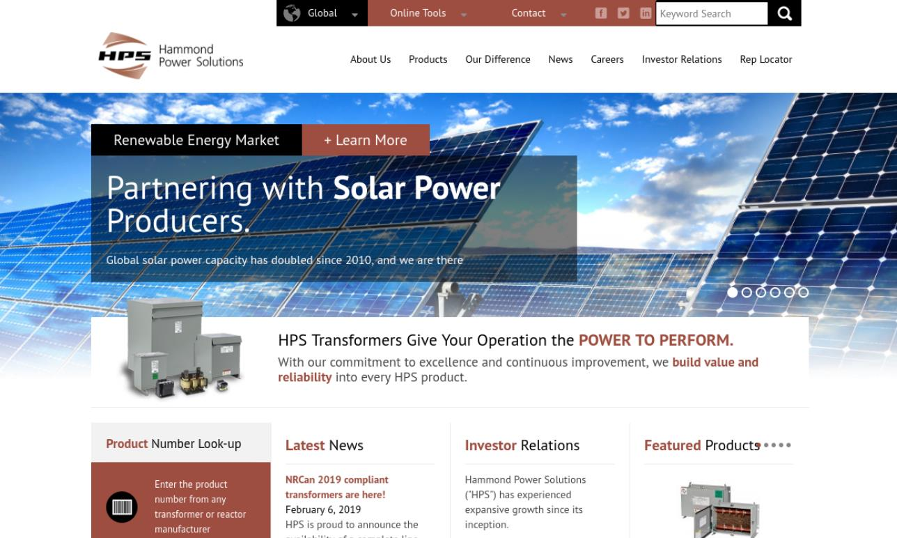 Hammond Power Solutions Inc.