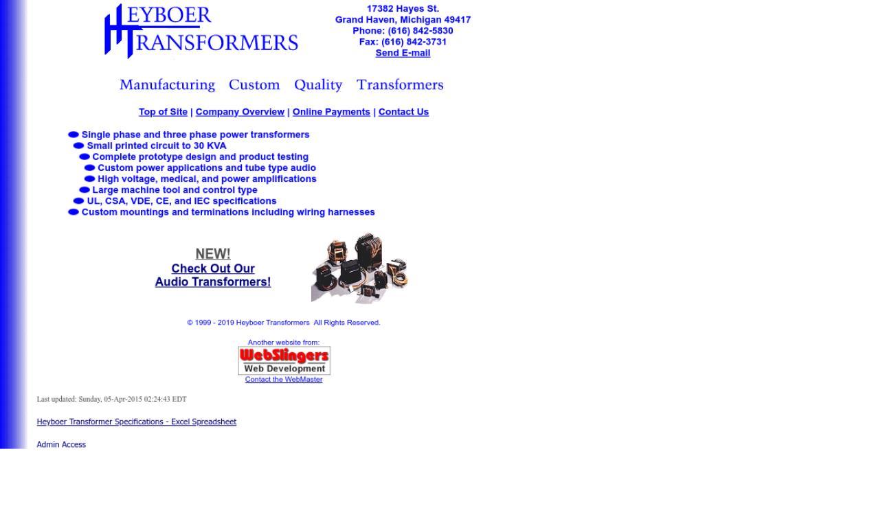 Heyboer Transformers