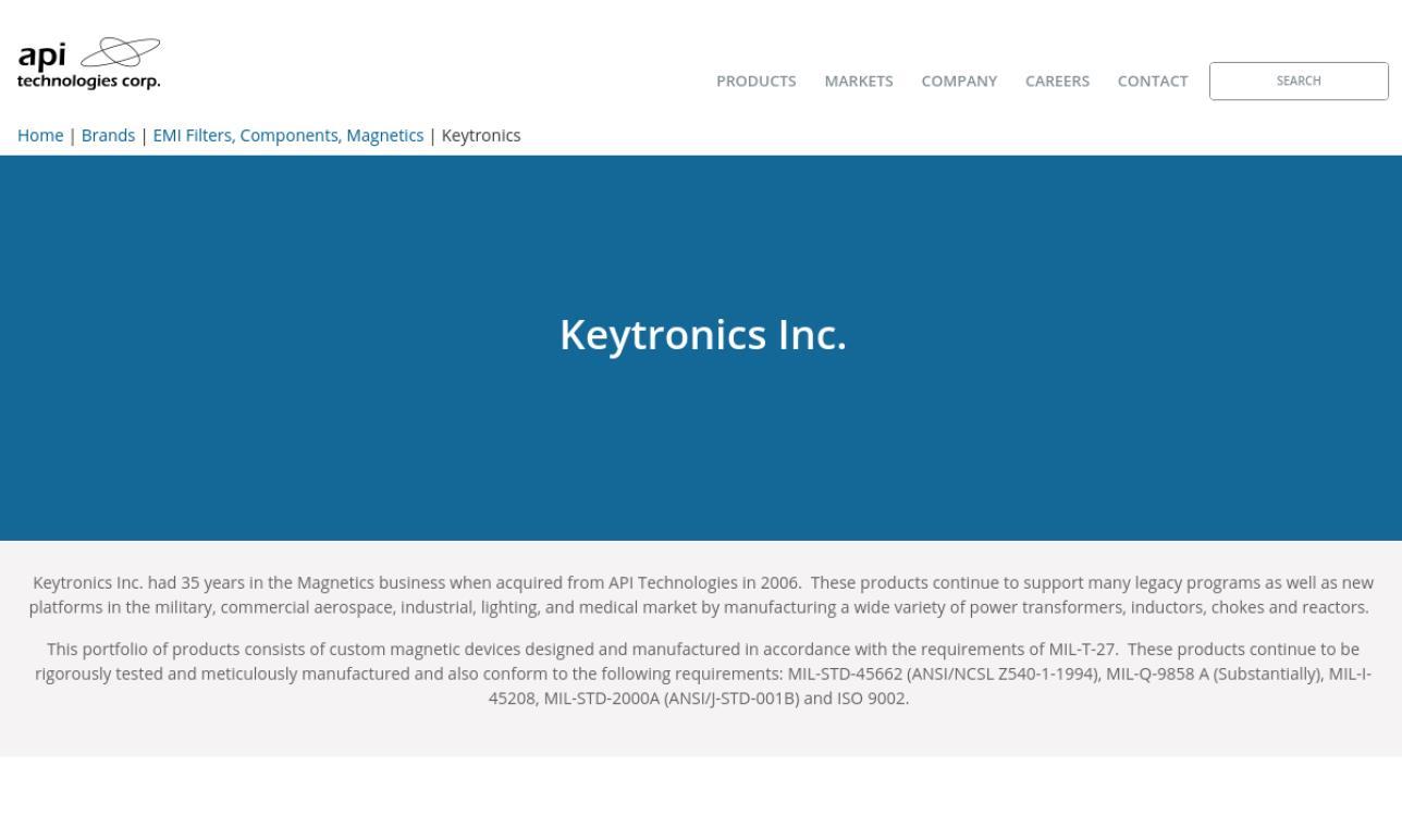 Keytronics, Inc.