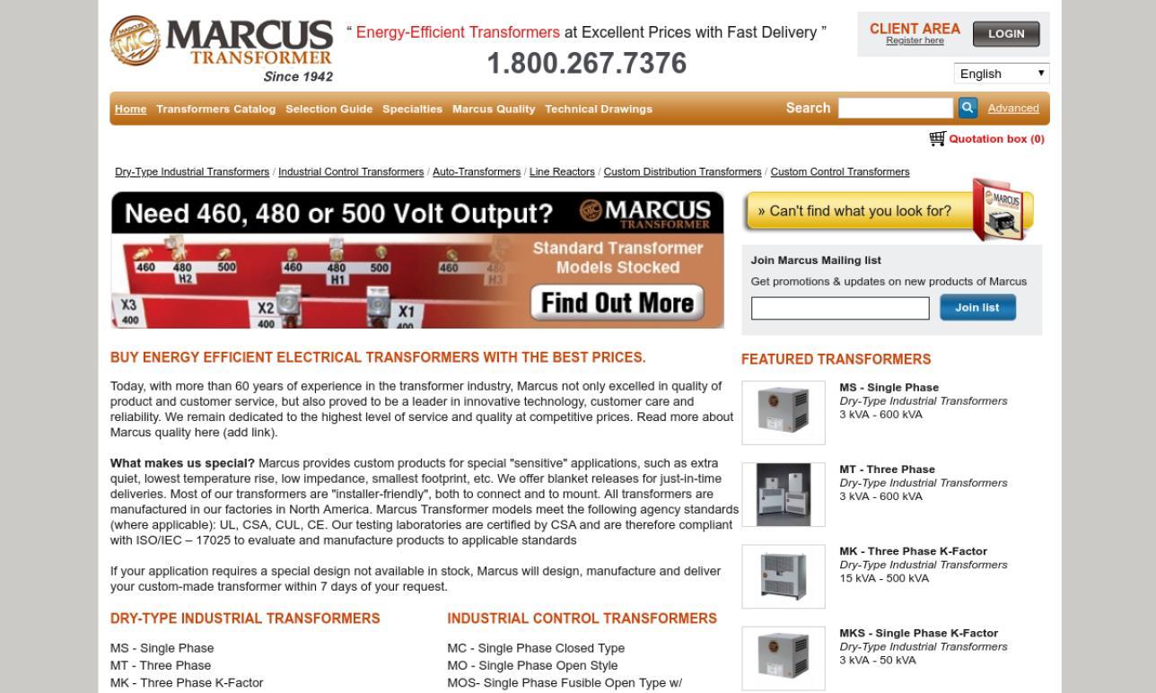 Marcus Transformer of Canada Ltd.