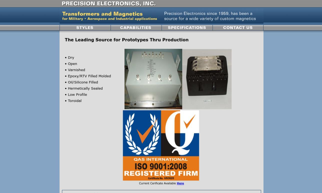 Precision Electronics, Inc.