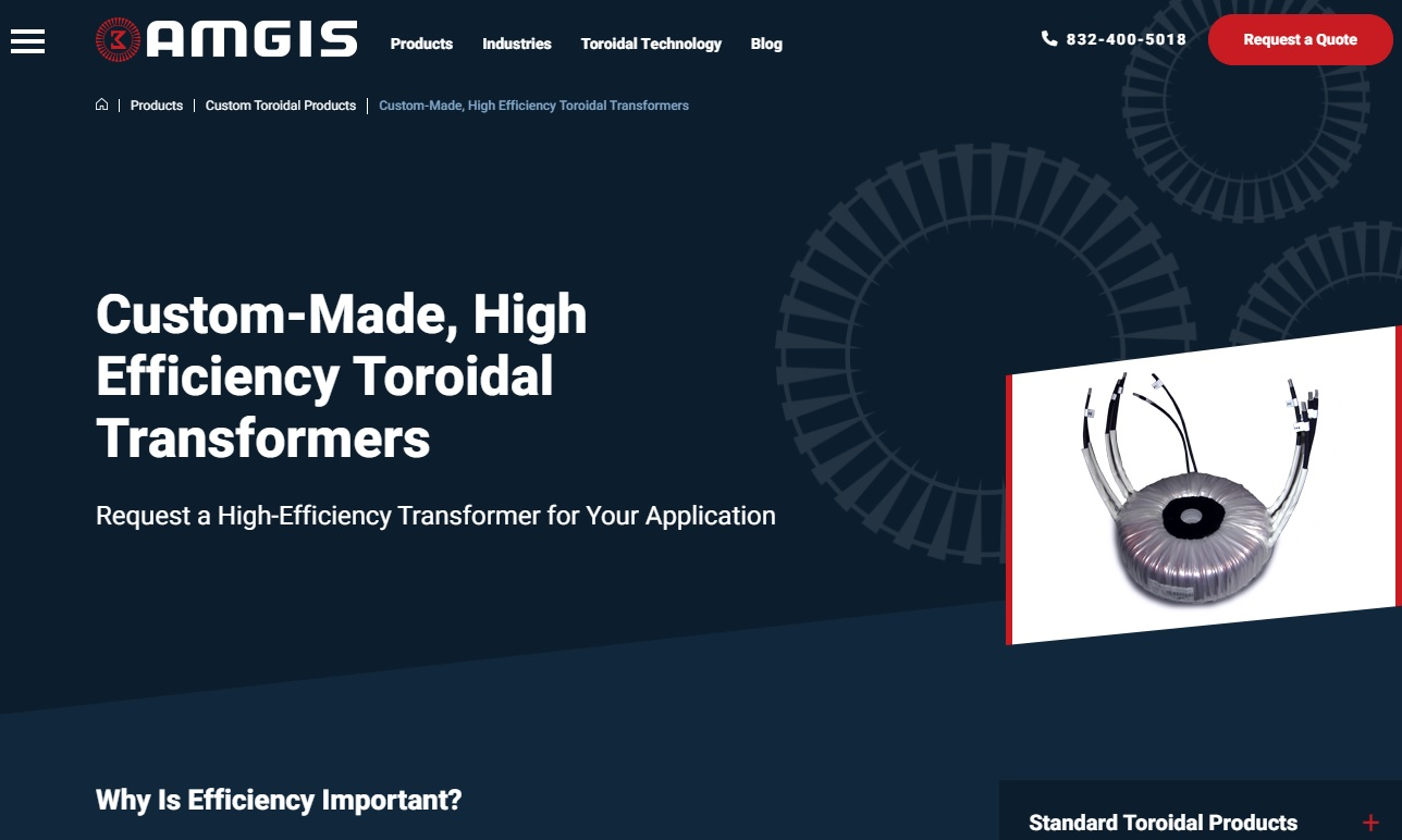 Amgis Toroidal Power Products